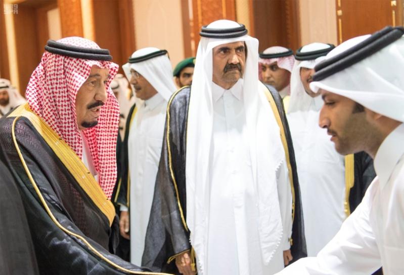 الملك سلمان يعزي امير قطر 11