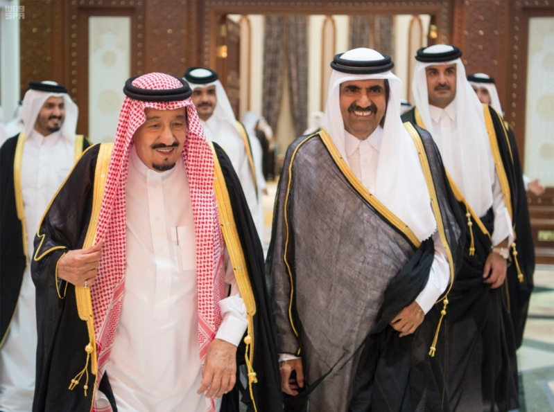 الملك سلمان يعزي امير قطر 2