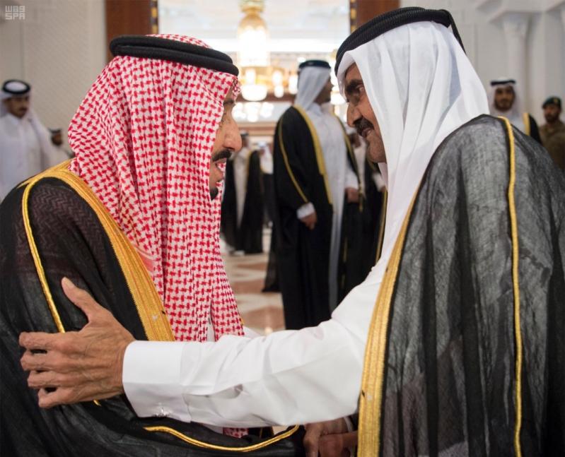 الملك سلمان يعزي امير قطر 3