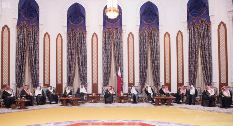 الملك سلمان يعزي امير قطر 4