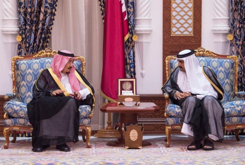 الملك سلمان يعزي امير قطر