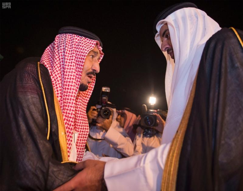 الملك سلمان يعزي امير قطر 8
