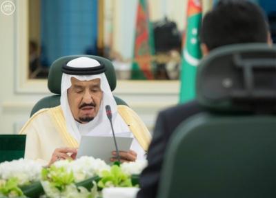 الملك سلمان يعقد جلسة مباحثات مع الرئيس التركمانستي.jpg15