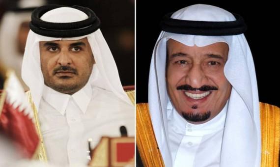 الملك سلمان يهني امير قطر