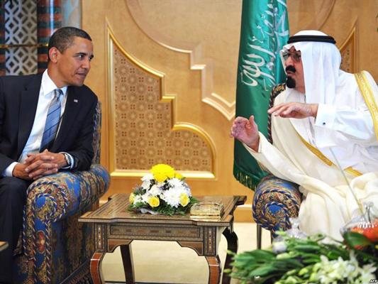 الملك عبدالله بن عبدالعزيز و اوباما