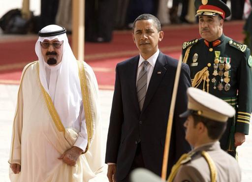 الملك عبدالله مع اوباما
