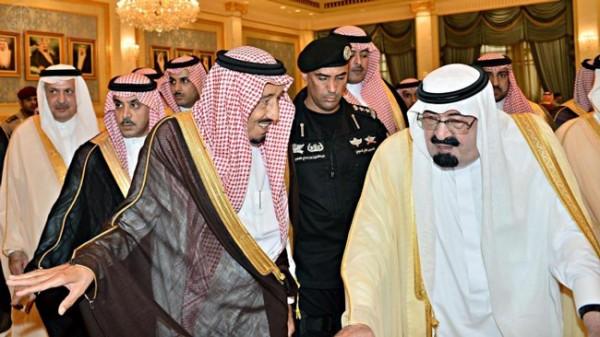 الملك عبدالله والامير سلمان