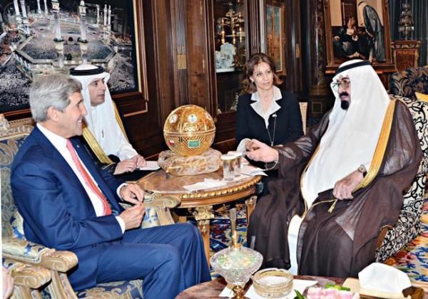 الملك عبدالله وجون كيري