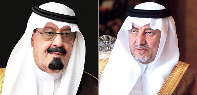 الملك عبدالله و خالد الفيصل