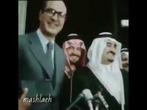 الملك فهد والرئيس الفرنسي