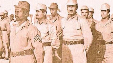 الملك  في الجيش السعودي قبل 50 عاماً