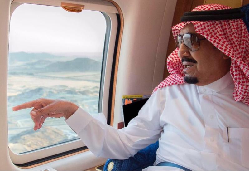الملك في الطائرة 1