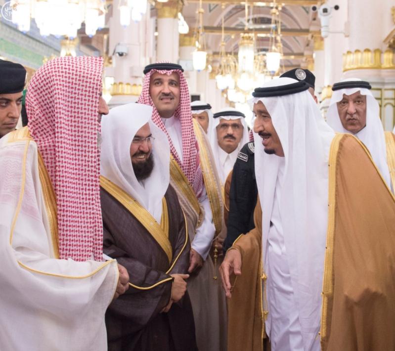 الملك في المسجد النبوي (1) 