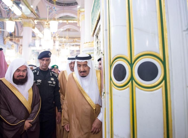 الملك في المسجد النبوي (34669063) 