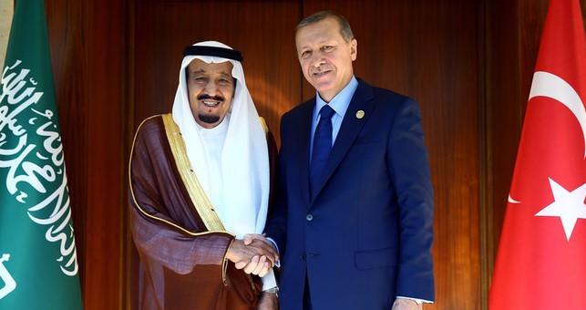 الملك مع الرئيس التركي