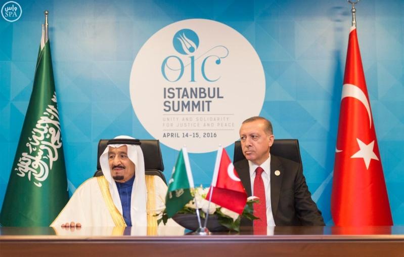 الملك والرئيس التركي