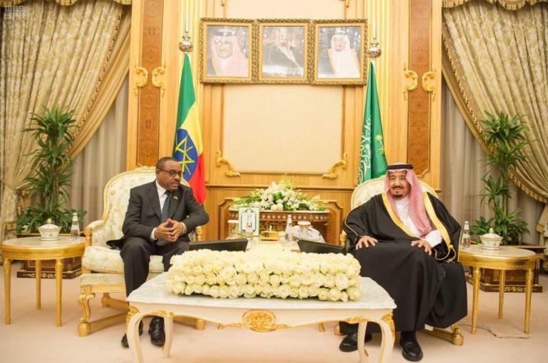 الملك ورئيس وزراء اثيوبيا
