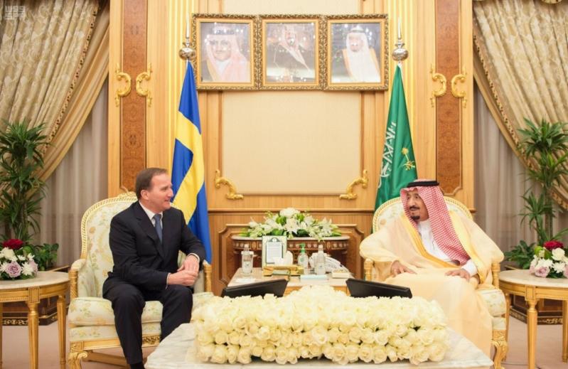 الملك ورئيس وزراء السويد