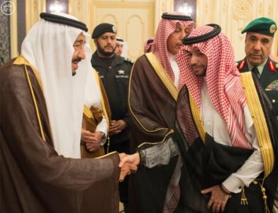 الملك يستقبل أصحاب السمو الأمراء وأصحاب الفضيلة والمعالي9
