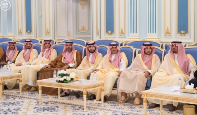 الملك يستقبل أصحاب السمو والامراء ومفتي عام المملكة17
