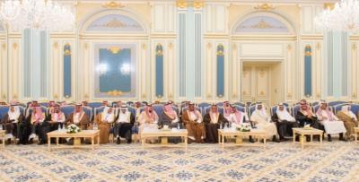الملك يستقبل أصحاب السمو والامراء ومفتي عام المملكة20