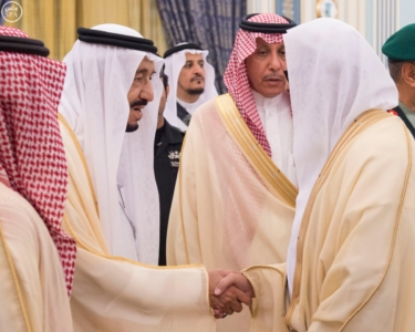 الملك يستقبل أصحاب السمو والامراء ومفتي عام المملكة4