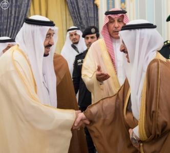 الملك يستقبل أصحاب السمو والامراء ومفتي عام المملكة8