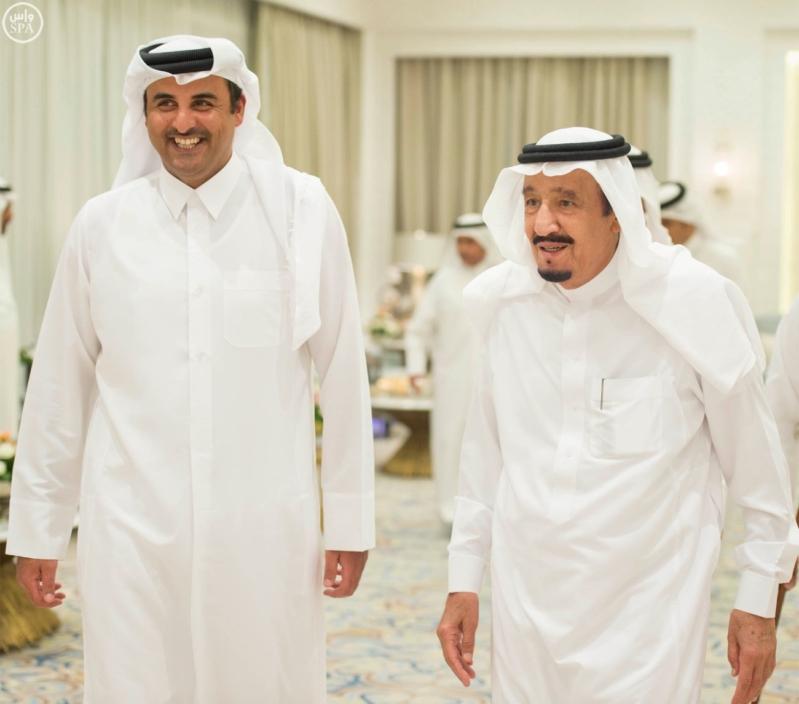 الملك يستقبل أمير قطر (5)
