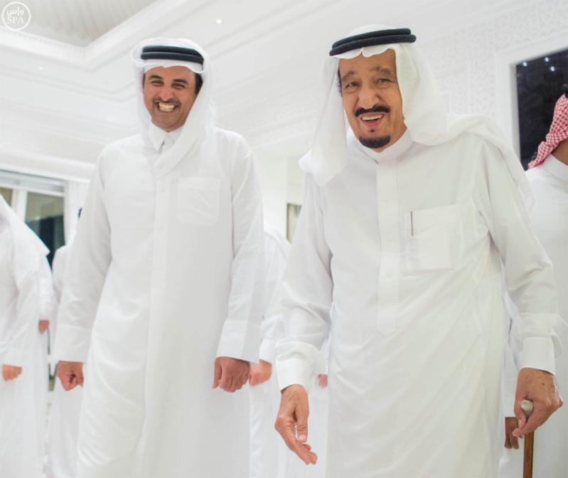 الملك يستقبل أمير قطر (6)