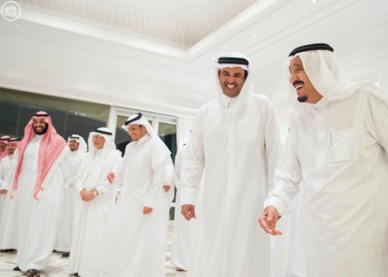 الملك يستقبل أمير قطر (7)