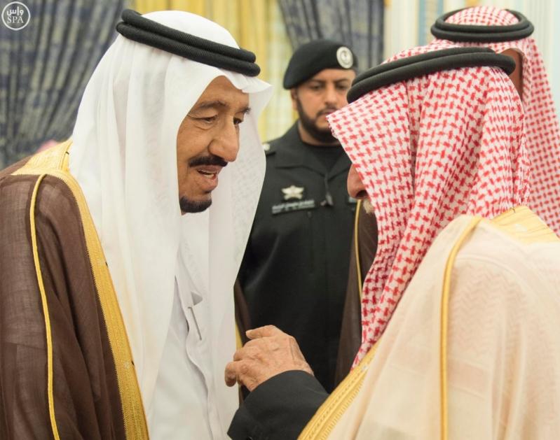 الملك يستقبل الامراء ومفتي عام المملكة10