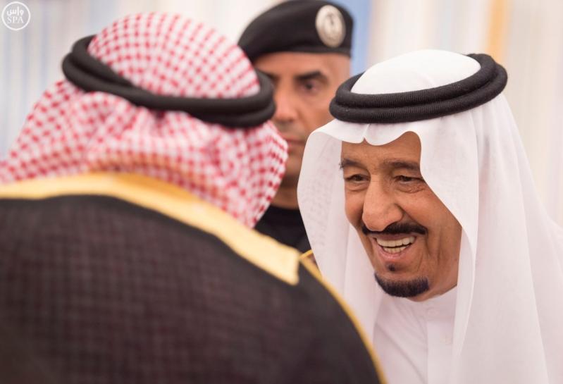 الملك يستقبل الامراء ومفتي عام المملكة16