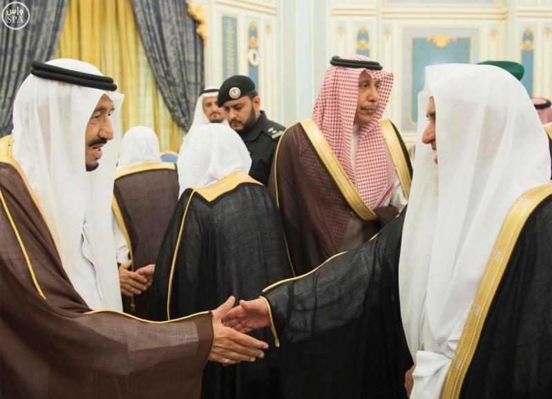الملك يستقبل الامراء ومفتي عام المملكة6