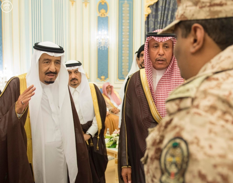 الملك يستقبل الامراء ومفتي عام المملكة9