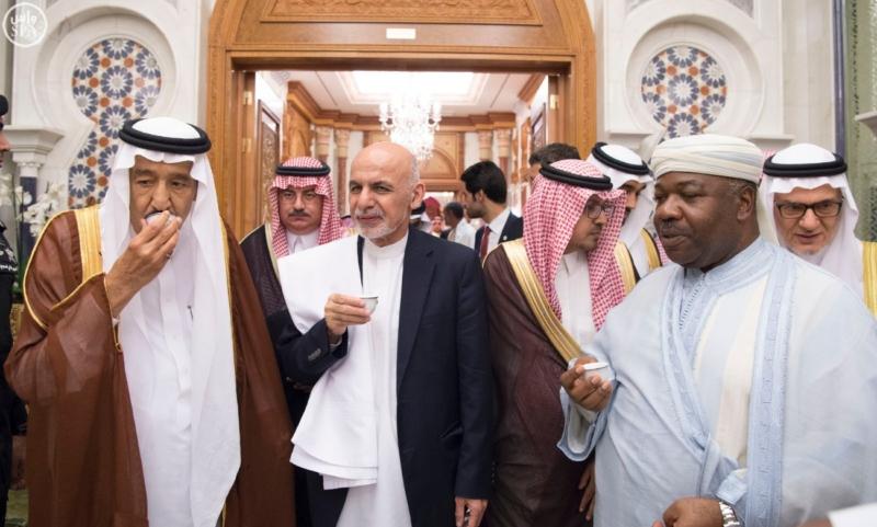 الملك يستقبل الرئيس الأفغاني والجابوني والحريري ووزير الدفاع الجيبوتي ورئيس حركة النهضة التونسية وأمين أوبك8