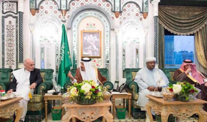 الملك يستقبل الرئيس الأفغاني والجابوني والحريري ووزير الدفاع الجيبوتي ورئيس حركة النهضة التونسية وأمين أوبك9