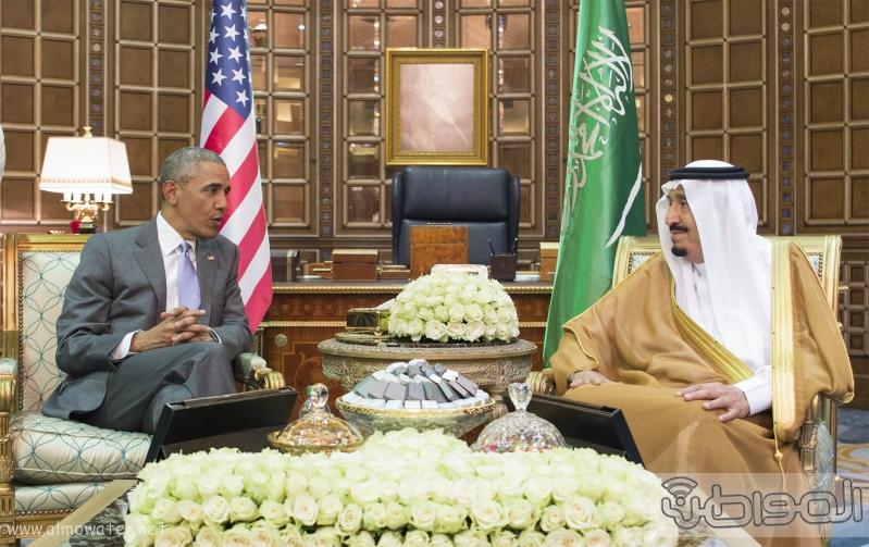 الملك يستقبل الرئيس الامريكي (1) 