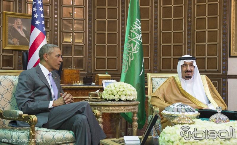 الملك يستقبل الرئيس الامريكي (68623728) 