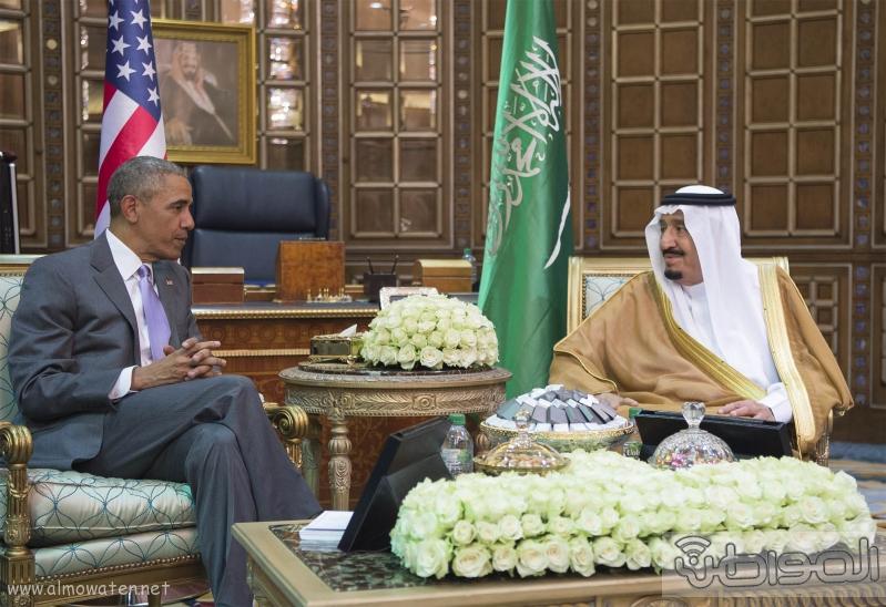 الملك يستقبل الرئيس الامريكي (68623730) 