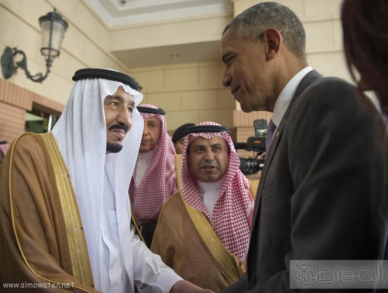 الملك يستقبل الرئيس الامريكي (68623732) 