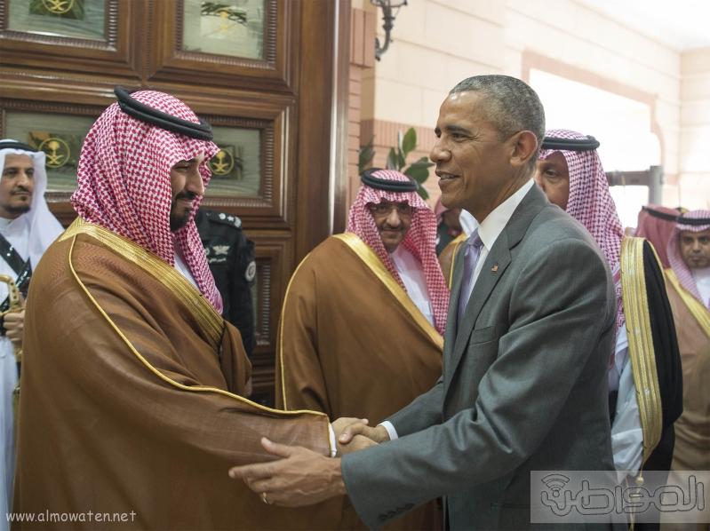 الملك يستقبل الرئيس الامريكي (68623734) 