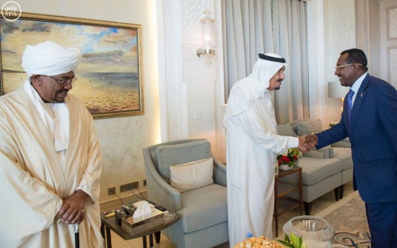 الملك يستقبل الرئيس السوداني 6