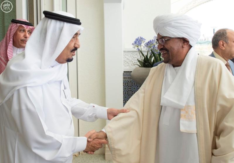 الملك يستقبل الرئيس السوداني 8