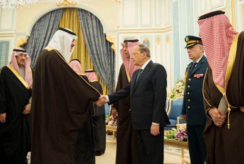 الملك يستقبل الرئيس اللبناني (34669060) 