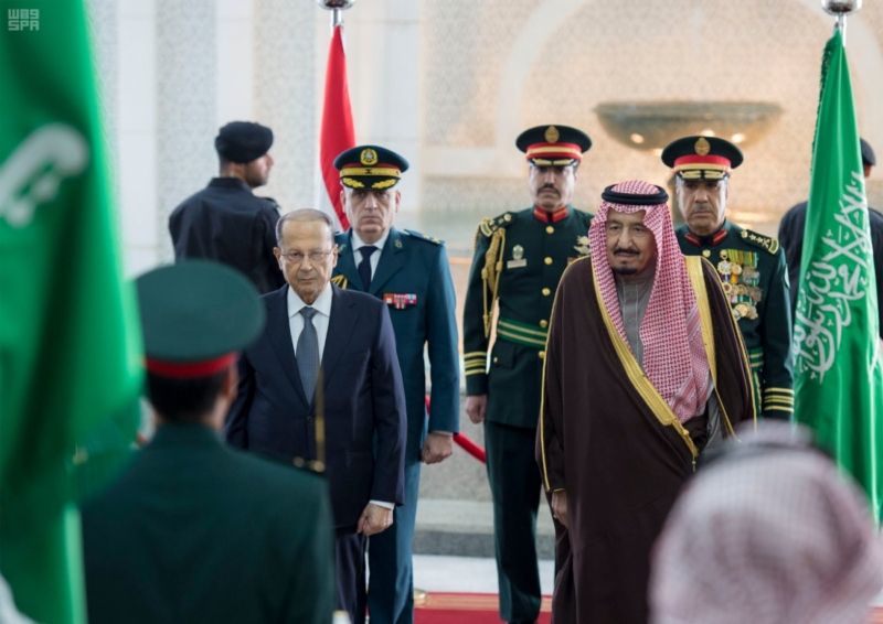 الملك يستقبل الرئيس اللبناني (34669061) 