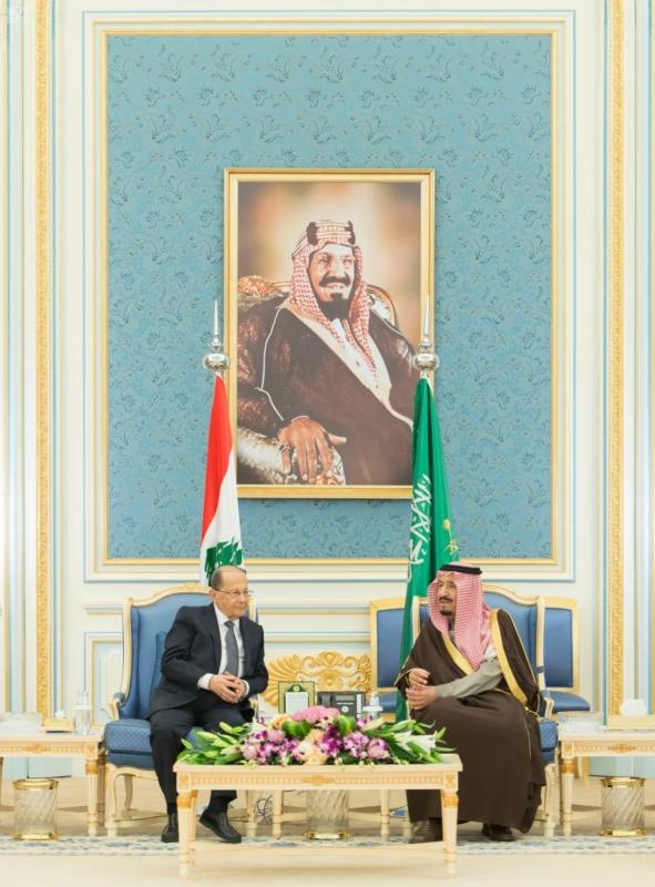الملك يستقبل الرئيس اللبناني (34669062) 