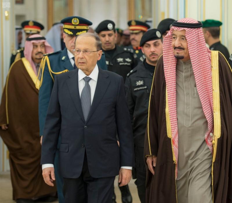 الملك يستقبل الرئيس اللبناني (34669064) 