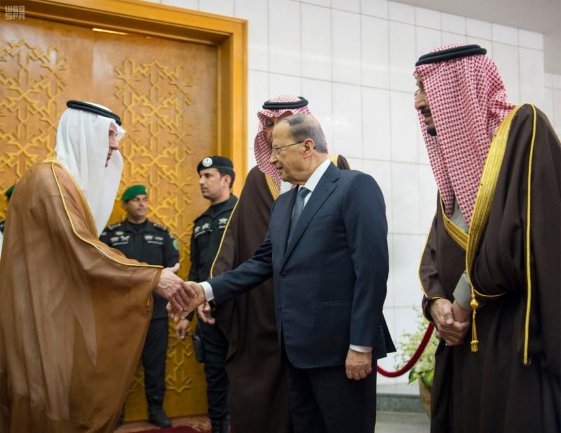 الملك يستقبل الرئيس اللبناني (34669065) 