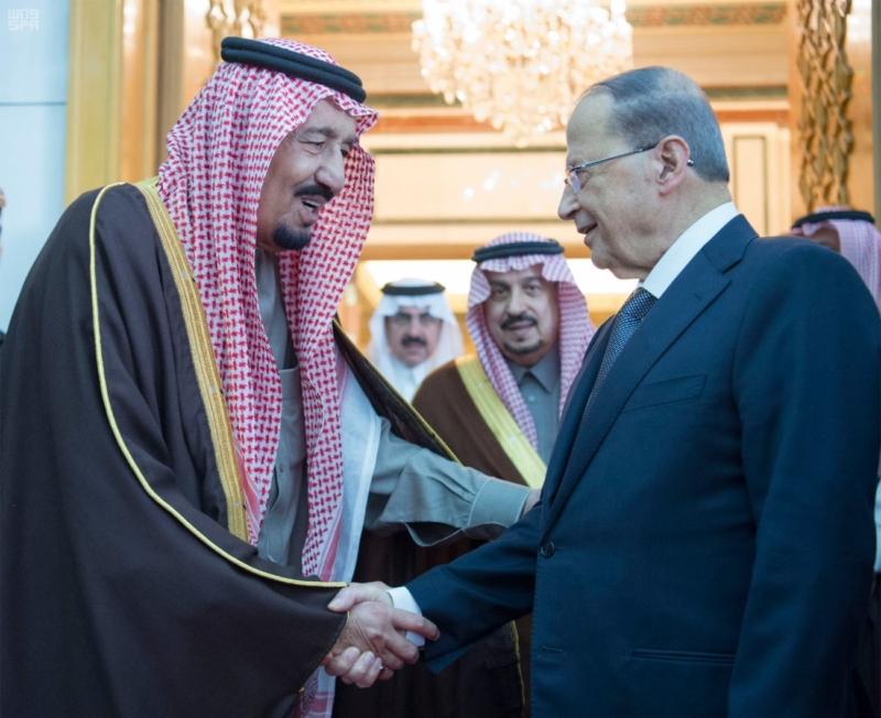 الملك يستقبل الرئيس اللبناني (34669067) 