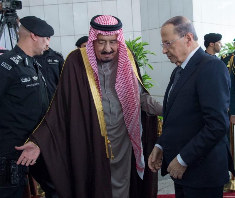 الملك يستقبل الرئيس اللبناني